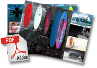 Catalogue pdf des planches de surf Joel FITZGERALD surfboards